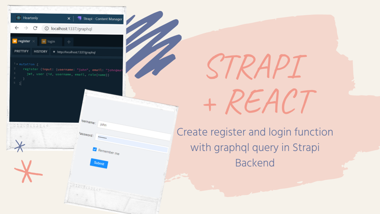 Create a login and register with React and Strapi Backend